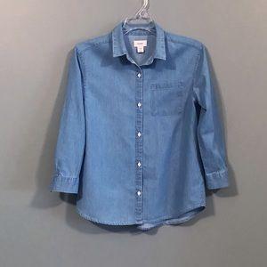Chambray Button tunic